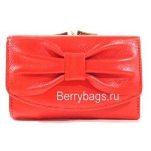 Маленький красный кожаный горизонтальный кошелек BRISTAN WERO  2416 -MILIATA