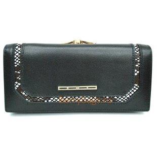 Женский кожаный кошелек BRISTAN WERO 2432-TWIN (Black)