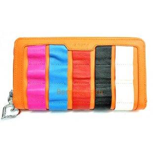 Женский кожаный цветной кошелек на молнии BRISTAN WERO 2433 -RAINBOW (Orange)