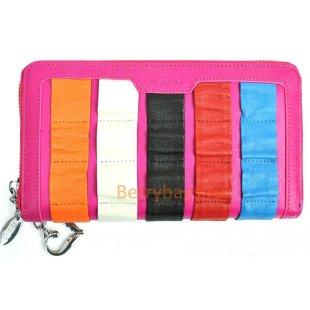 Женский кожаный цветной кошелек на молнии BRISTAN WERO 2434 -RAINBOW (Pink)
