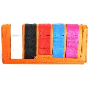 Классический кожаный кошелек BRISTAN WERO 2437 -EVA (Orange)