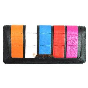 Классический разноцветный кожаный кошелек BRISTAN WERO 2439-STINKI(Black)