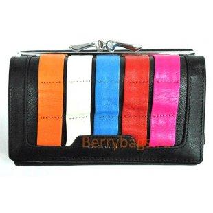 Маленький горизонтальный разноцветный кошелек BRISTAN WERO 2440-WALLA (Black)