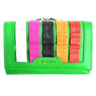 Маленький горизонтальный разноцветный кошелек BRISTAN WERO 2441-WALLA (Lime)