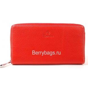 Женский кожаный кошелек на молнии BRISTAN WERO 2442-CHARLES (Red)