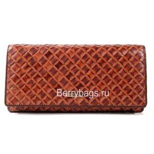 Женский кожаный плетеный классический кошелек BRISTAN WERO 2451-FRANTENA