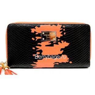 Женский кожаный кошелек с двумя молниями BRISTAN WERO 2466-DABLBONZA