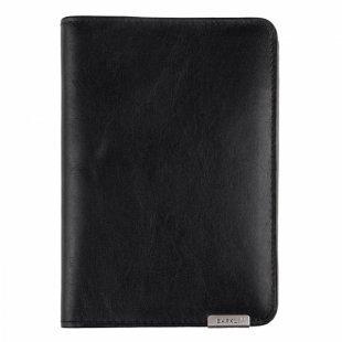 Barkli 00019-6 black Кожаная обложка для паспорта
