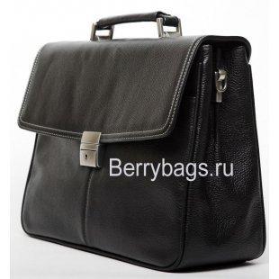 Портфель мужской кожаный Baron 2-238cb Black