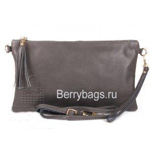 Клатч-сумка женская кожаная Bianchi 1156 Gray