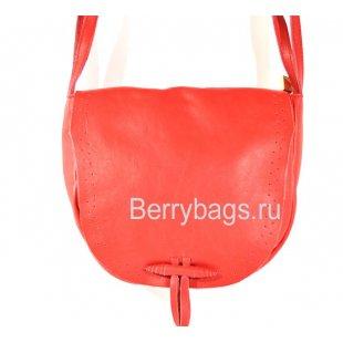 Сумка через плечо женская красная мягкая Bianchi 26589 Papavero