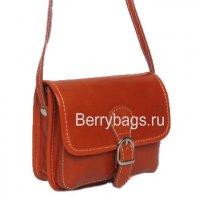 Маленькая женская сумочка через плечо Bianchi 2834 -Cognac