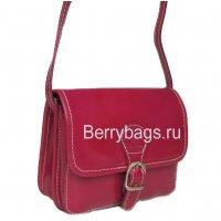 Женская малиновая сумочка маленькая через плечо Bianchi 3365 -raspberries