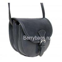Женская маленькая кожаная сумочка через плечо Bianchi 4479 Buco nero