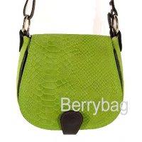 Женская кожаная сумка через плечо змея Bianchi 5073 Serpente verde