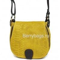 Женская сумка через плечо песочная змея Bianchi 507301 Sandy