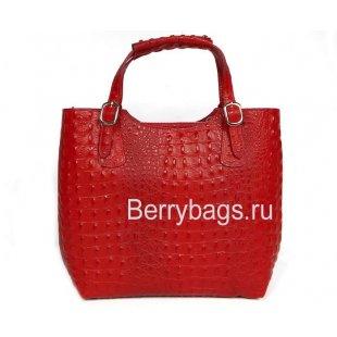 Классическая женская сумка из кожи Италия Bianchi 5160 Rosso