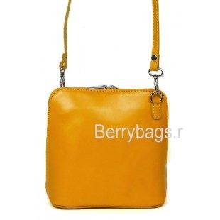 Стильная маленькая сумочка через плечо желтая Bianchi 7208 Giallo chiaro