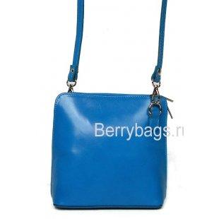 Женская сумочка через плечо кожаная Bianchi 7211 Blu scuro