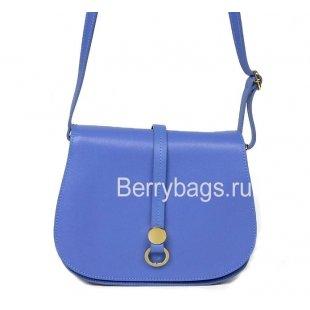 Сумка через плечо женская кожаная синяя Bianchi 7215 Azzurro