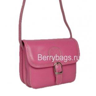 Женская маленькая сумочка через плечо розовая Bianchi 7369 -pink