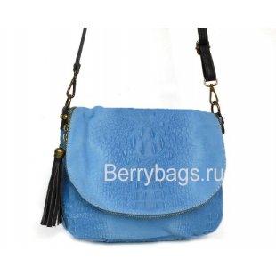 Женская сумочка через плечо голубая Bianchi 7378 Blu