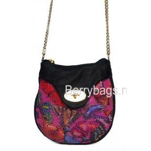 Яркая кожаная сумка через плечо женская Bianchi 7388 Farfalla