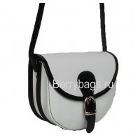 Маленькая кожаная сумочка через плечо женская Bianchi 7437 Orso bianco