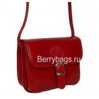 Женская красная сумочка маленькая через плечо Bianchi 7458 -Red