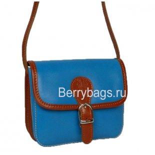 Маленькая женская сумочка через плечо голубая Bianchi 7460 - Sky blue