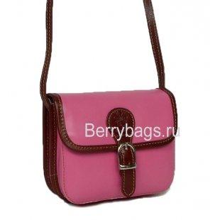 Маленькая женская сумочка через плечо розовая Bianchi 7464 - Pink colored
