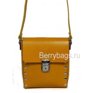 Женская сумка планшет через плечо песочного цвета Bianchi 7564 Sabbia