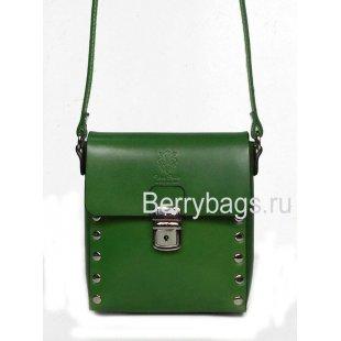 Женская сумка планшет через плечо зеленого цвета Bianchi 7565 Tè verde