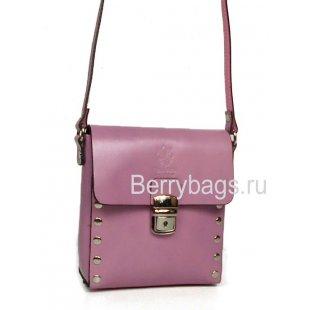 Женская сумка планшет через плечо сиреневого цвета Bianchi 7566 Lilla