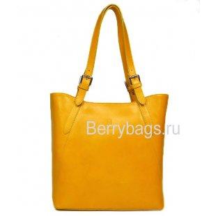 Сумка женская кожаная Bianchi 7666 Yellow