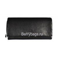 Бумажник раскладной кожаный черный Bristan Wero 117308-Gitell
