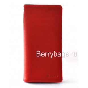 Кожаная купюрница женская красная Bristan Wero 117317-Nella