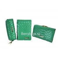 Женский подарочный набор из 3-х аксессуаров с открыткой Bristan Wero 117470 Green