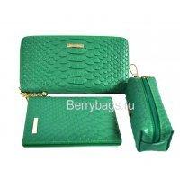 Женский подарочный набор 3 аксессуара и открытка Bristan Wero 117473 Green