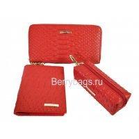 Женский подарочный набор из 3-х предметов с открыткой Bristan Wero 117487 Red