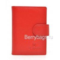 Визитница кожаная женская красная Bristan Wero 117852