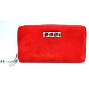 Замшевый женский кожаный кошелек Bristan Wero 2413 -VALENTIO