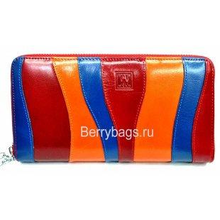 Женский кожаный кошелек цветной Bristan Wero 2481 -Masska