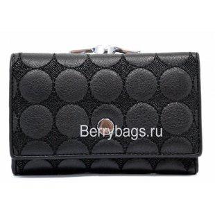 Женский кожаный кошелек черный Bristan Wero 259309 - Balance