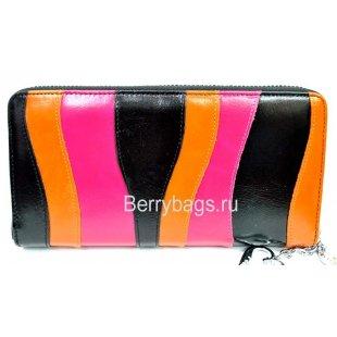Женский кожаный кошелек на молнии  Bristan Wero 9443 - Mexicana