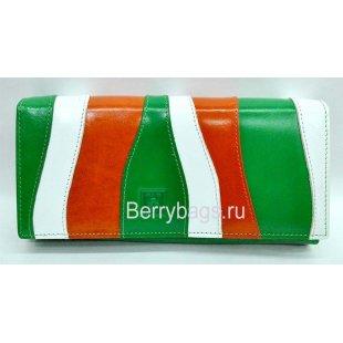 Женский разноцветный кожаный кошелек Bristan Wero 9444 - Doliata