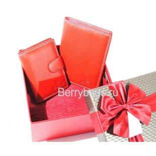 Подарочный женский набор кожаных аксессуаров Bristan Wero S-720 -Mikki