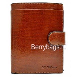 Портмоне мужское коричневое большое Bristan Wero1822 REX