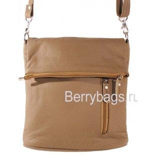 Женская плечевая сумка D-05 -01 Glazy Beige