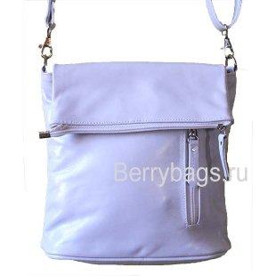Женская плечевая сумка D-05 -01 Glazy White Lacki